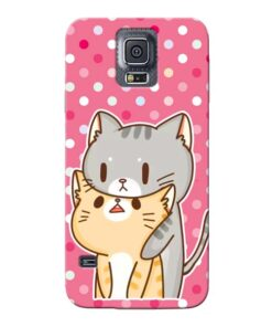 Pretty Cat Samsung Galaxy S5 Mobile Cover