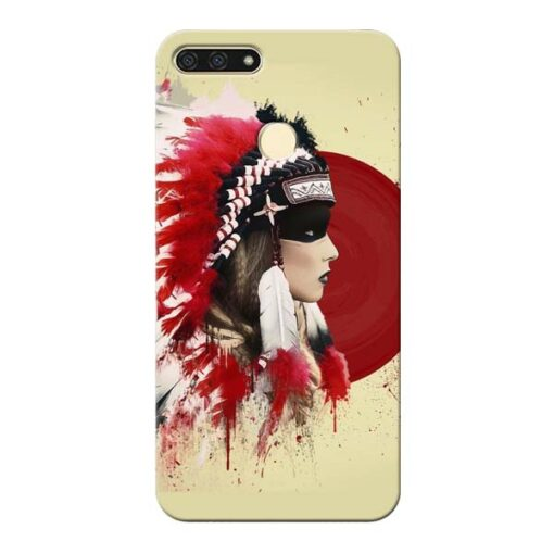 Red Cap Honor 7A Mobile Cover
