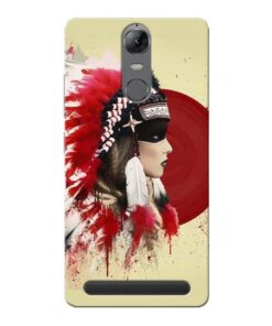 Red Cap Lenovo Vibe K5 Note Mobile Cover