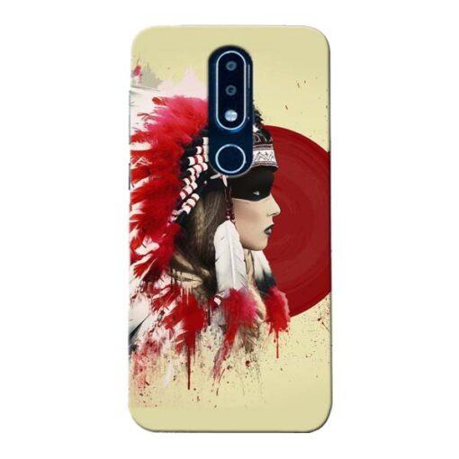Red Cap Nokia 6.1 Plus Mobile Cover