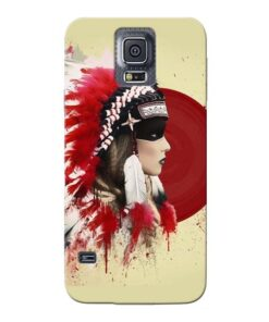 Red Cap Samsung Galaxy S5 Mobile Cover