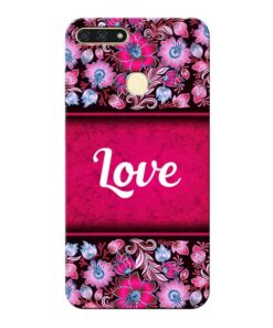 Red Love Honor 7A Mobile Cover