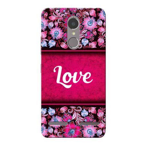 Red Love Lenovo K6 Power Mobile Cover