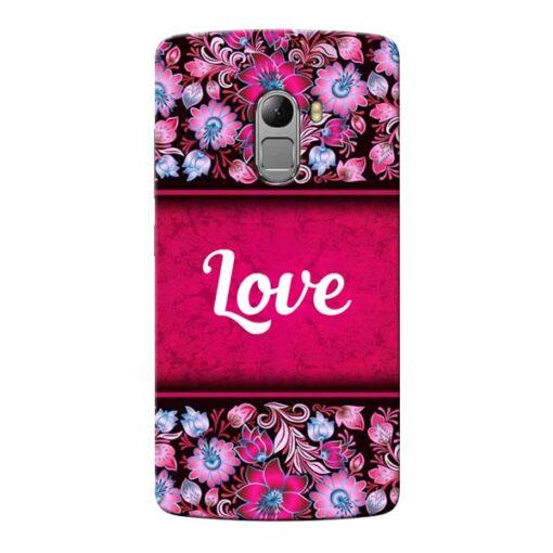 Red Love Lenovo Vibe K4 Note Mobile Cover