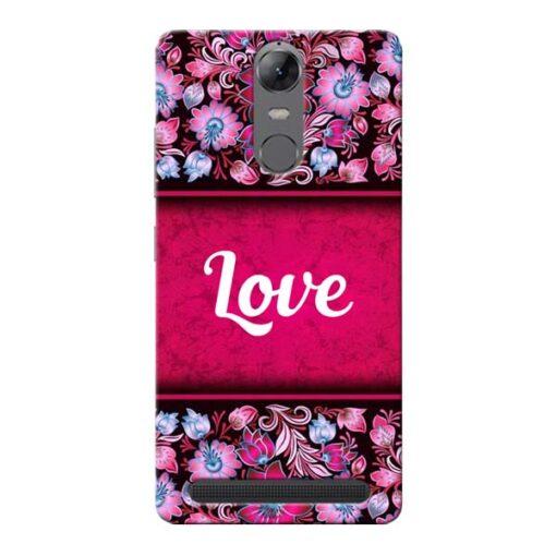 Red Love Lenovo Vibe K5 Note Mobile Cover