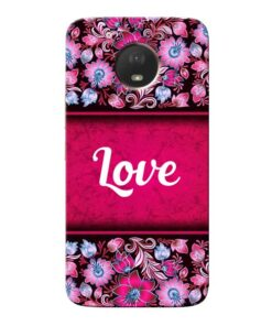 Red Love Moto E4 Plus Mobile Cover