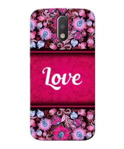Red Love Moto G4 Mobile Cover