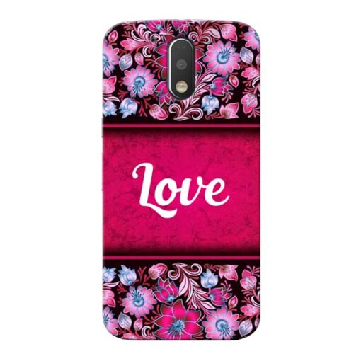 Red Love Moto G4 Plus Mobile Cover