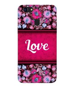 Red Love Oppo F5 Mobile Cover