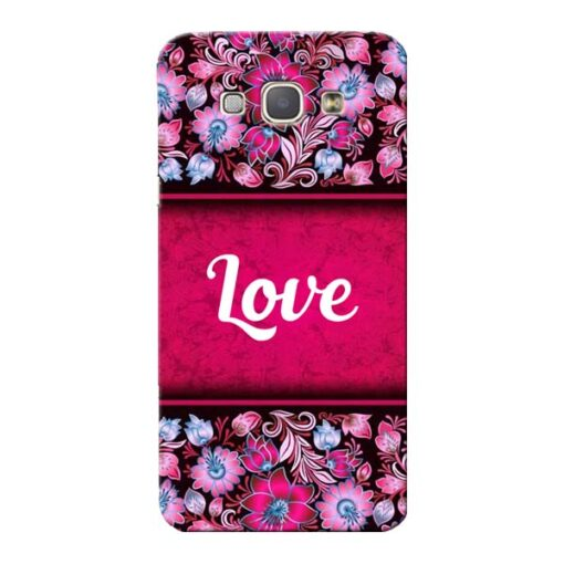 Red Love Samsung Galaxy A8 2015 Mobile Cover