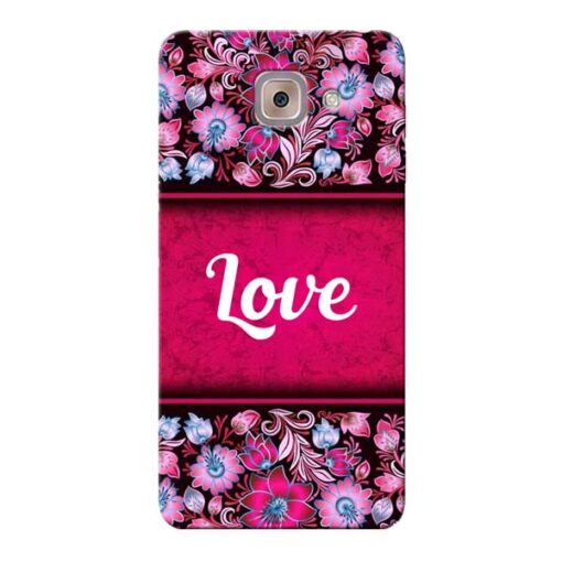 Red Love Samsung Galaxy J7 Max Mobile Cover
