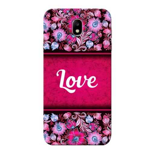 Red Love Samsung Galaxy J7 Pro Mobile Cover