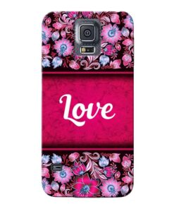 Red Love Samsung Galaxy S5 Mobile Cover