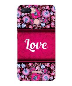 Red Love Xiaomi Redmi 6 Mobile Cover