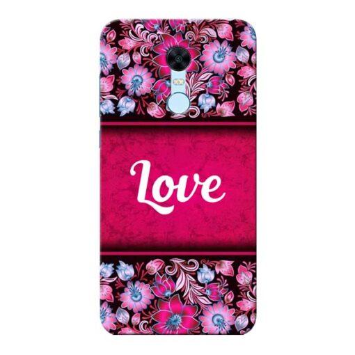 Red Love Xiaomi Redmi Note 5 Mobile Cover