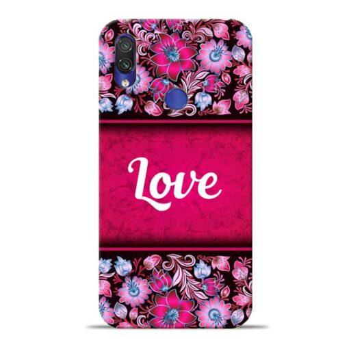 Red Love Xiaomi Redmi Note 7 Mobile Cover