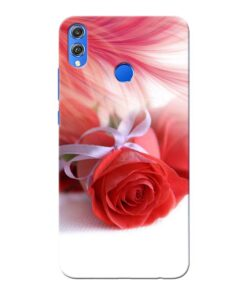 Red Rose Honor 8X Mobile Cover