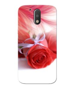 Red Rose Moto G4 Mobile Cover