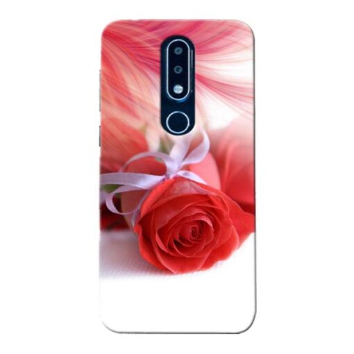 Red Rose Nokia 6.1 Plus Mobile Cover