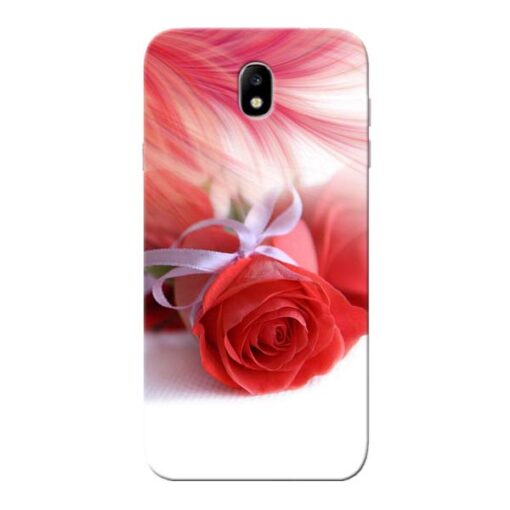 Red Rose Samsung Galaxy J7 Pro Mobile Cover