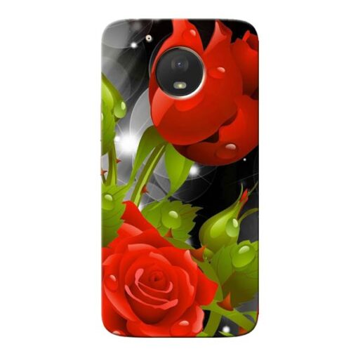 Rose Flower Moto E4 Plus Mobile Cover