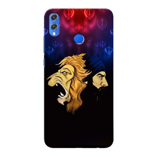 Singh Lion Honor 8X Mobile Cover