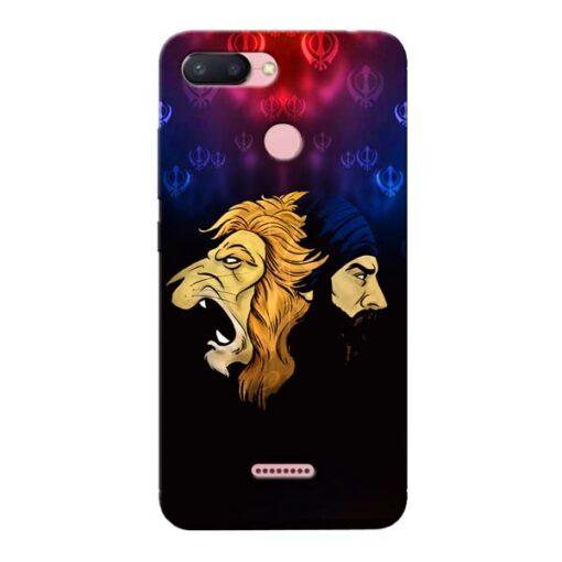 Singh Lion Xiaomi Redmi 6 Mobile Cover