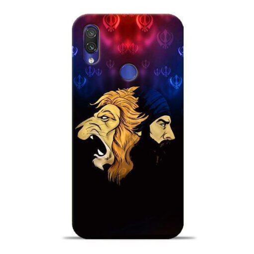 Singh Lion Xiaomi Redmi Note 7 Mobile Cover