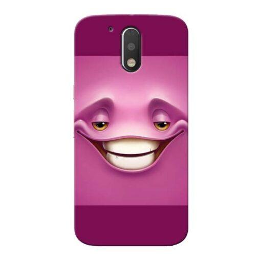 Smiley Danger Moto G4 Plus Mobile Cover