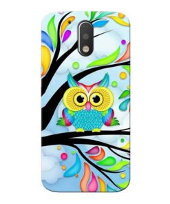Spring Owl Moto G4 Plus Mobile Cover