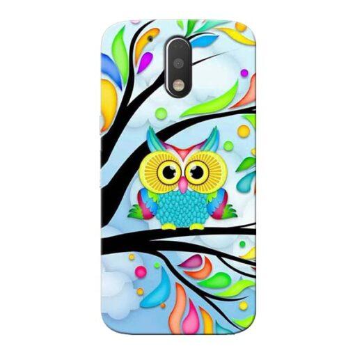Spring Owl Moto G4 Plus Mobile Cover