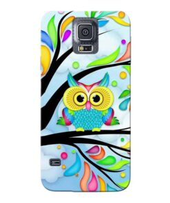 Spring Owl Samsung Galaxy S5 Mobile Cover