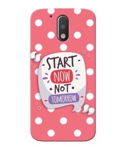 Start Now Moto G4 Mobile Cover
