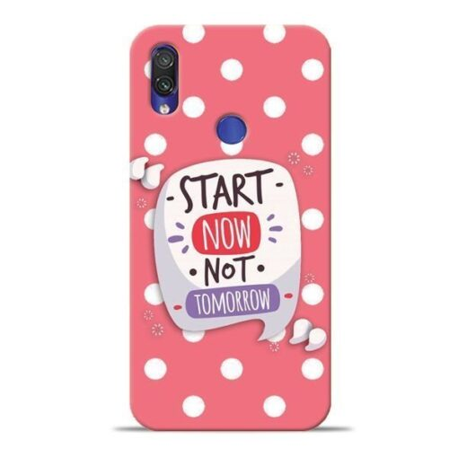 Start Now Xiaomi Redmi Note 7 Pro Mobile Cover