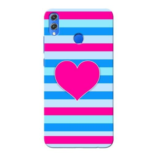 Stripes Line Honor 8X Mobile Cover