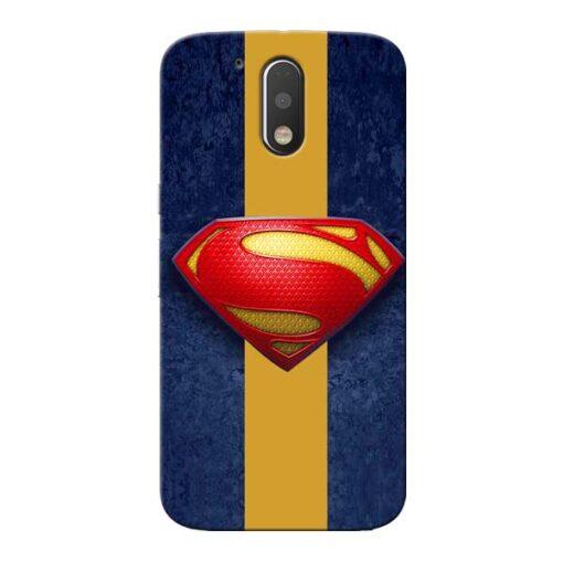 SuperMan Design Moto G4 Plus Mobile Cover