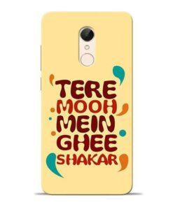 Tere Muh Mein Ghee Redmi 5 Mobile Cover