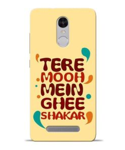 Tere Muh Mein Ghee Redmi Note 3 Mobile Cover