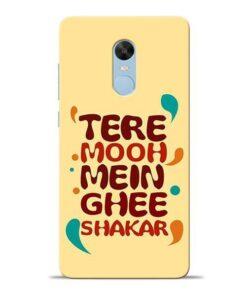 Tere Muh Mein Ghee Redmi Note 4 Mobile Cover