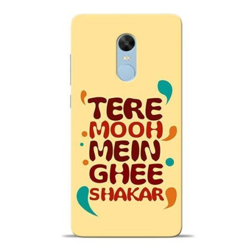 Tere Muh Mein Ghee Redmi Note 4 Mobile Cover
