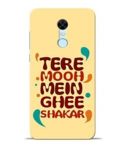 Tere Muh Mein Ghee Redmi Note 5 Mobile Cover