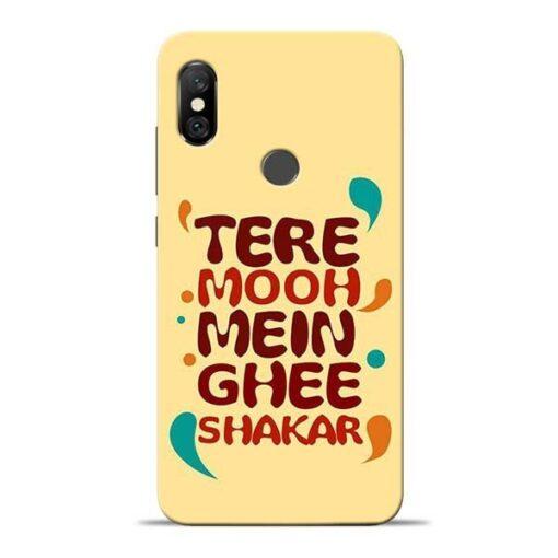 Tere Muh Mein Ghee Redmi Note 6 Pro Mobile Cover
