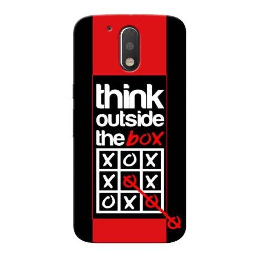 Think Outside Moto G4 Plus Mobile Cover