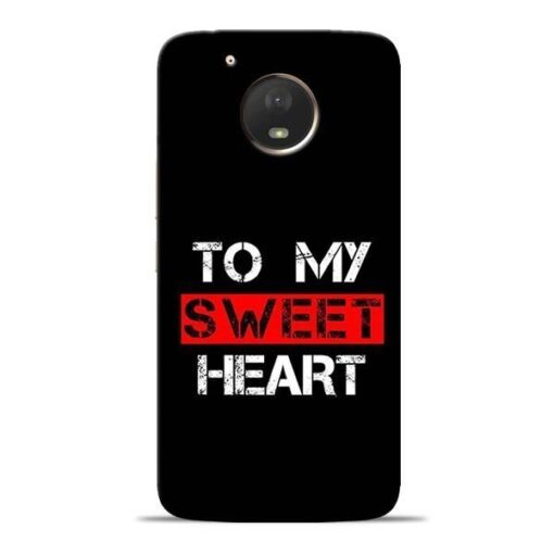 To My Sweet Heart Moto E4 Plus Mobile Cover