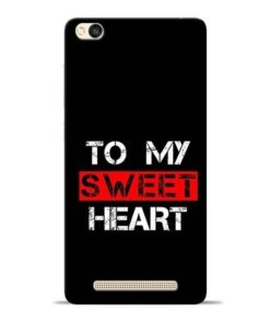 To My Sweet Heart Redmi 3s Mobile Cover