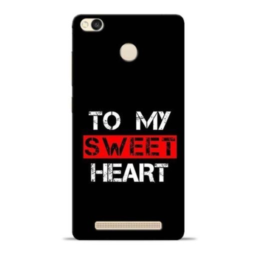 To My Sweet Heart Redmi 3s Prime Mobile Cover