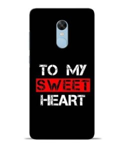 To My Sweet Heart Redmi Note 4 Mobile Cover
