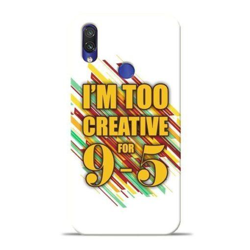 Too Creative Xiaomi Redmi Note 7 Mobile Cover