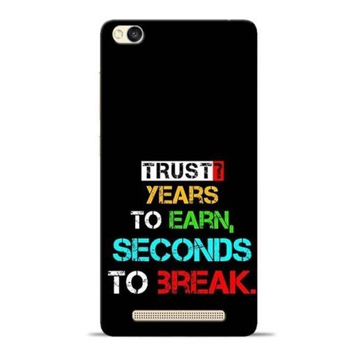 Trust Years To Earn Redmi 3s Mobile Cover