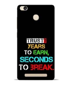 Trust Years To Earn Redmi 3s Prime Mobile Cover